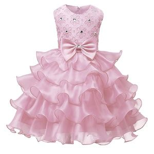 Other - Toddler Pink Ruffle Dress Size 9 mo to 12 mo